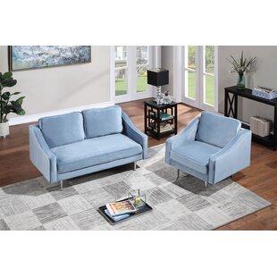 Bernardsville 2 Piece Velvet Living Room Set by Wrought Studio™