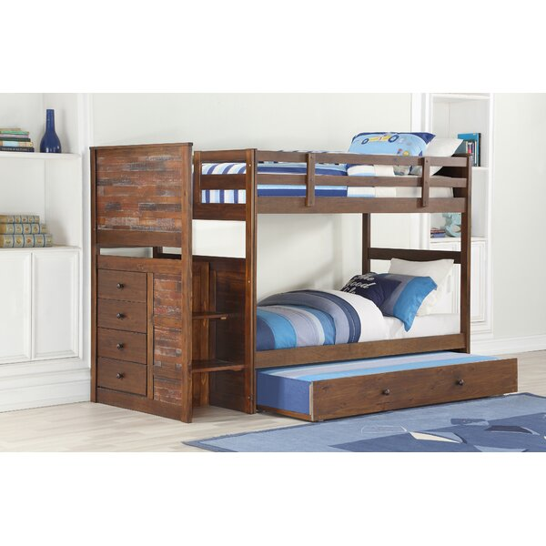 Featherston Stairway Twin Over Full Bunk Bed With Trundle By Harriet Bee