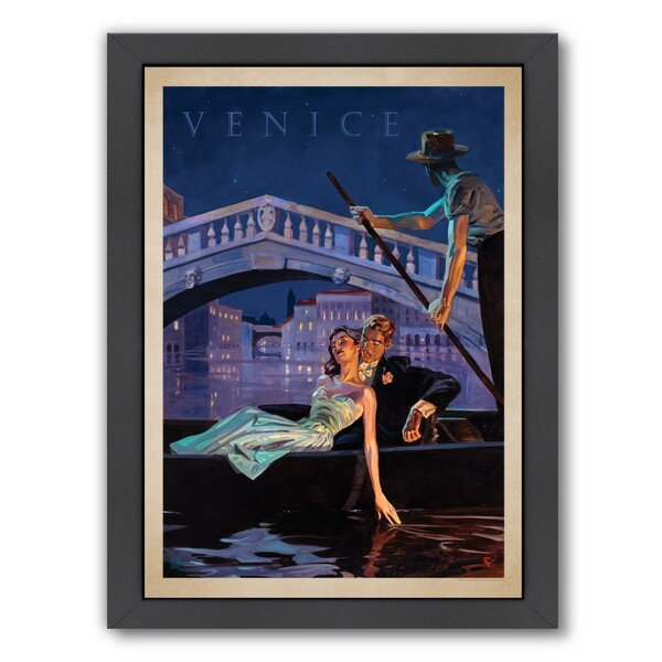 Venice Framed Vintage Advertisement by East Urban Home