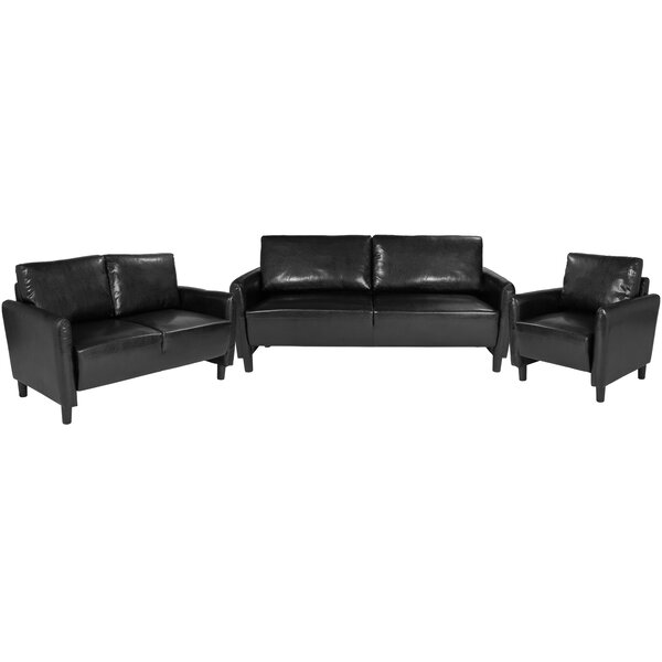 Stellert Upholstered 3 Piece Living Room Set by Ebern Designs