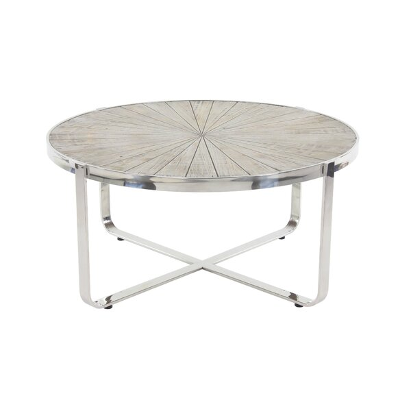Purin Contemporary Radial Coffee Table by 17 Stories