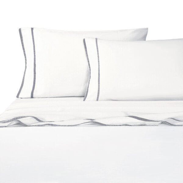 Drakeford Embroidered 4 Piece Sheet Set by Canora Grey