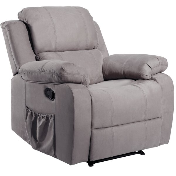 Kavin Faux Leather Power Recliner with Massage and Heating W003392174