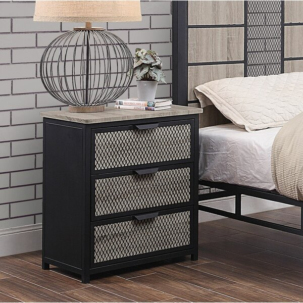 Keithley 3 Drawer Nightstand by Williston Forge