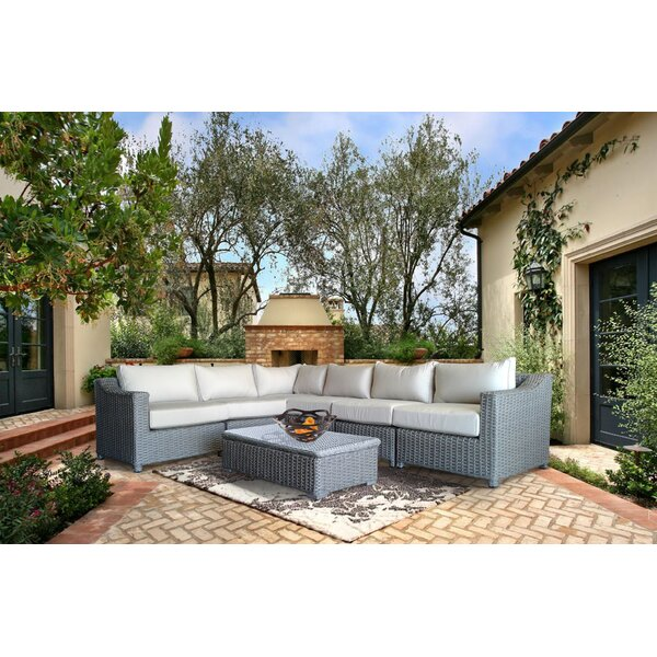 Dutil 6 Piece Sunbrella Sectional Set with Sunbrella Cushions by Brayden Studio