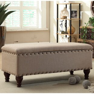 Review Lattimer Upholstered Storage Bench by Three Posts