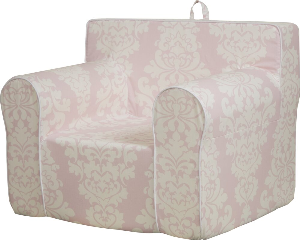 Personalized My Comfy Chair In Pink Damask