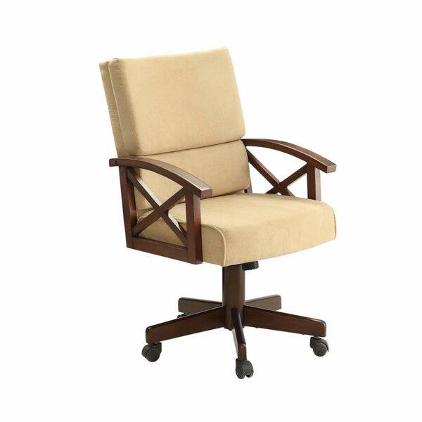 Amiyah Upholstered Arm Chair in Tan by Loon Peak Loon Peak