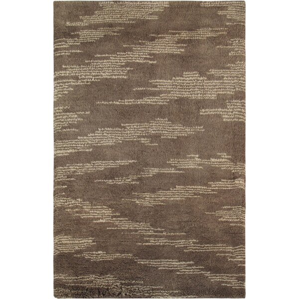 Moroccan Hand-Knotted Brown Area Rug by Pasargad