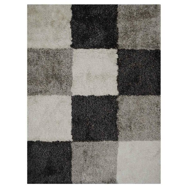 Housel Hand-Tufted Black/Gray Area Rug by Ebern Designs