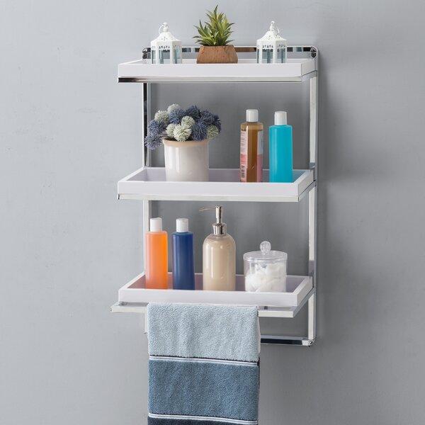 Verplanck 15.75'' W x 26.25'' H x 10.5'' D Wall Mounted Bathroom Shelves