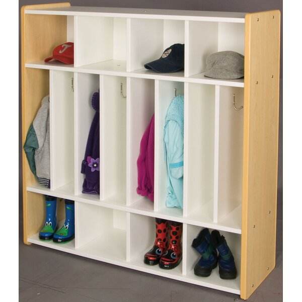 1000 Series 4 Section Coat Locker by TotMate
