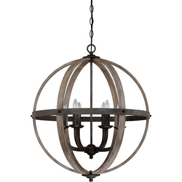 Burrill 6-Light Candle Style Globe Chandelier By Gracie Oaks