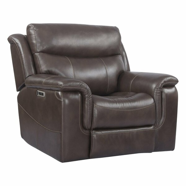 Gillsville Leather Power Recliner By Red Barrel Studio