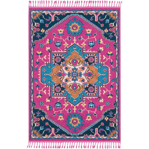 Peregrine Floral Bright Pink Area Rug by Mistana