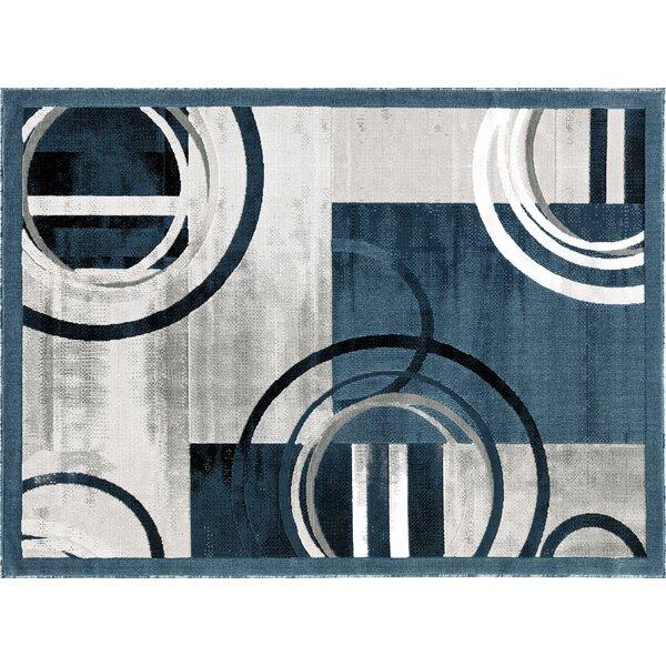 Singley Gray/Dark Blue Area Rug by Orren Ellis