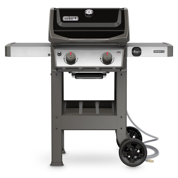 Spirit II E-210 2-Burner Natural Gas Grill with Side Shelves by Weber