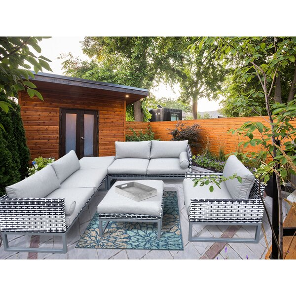 Gruber Patio 5 Piece Sectional Seating Group with Cushions by Brayden Studio