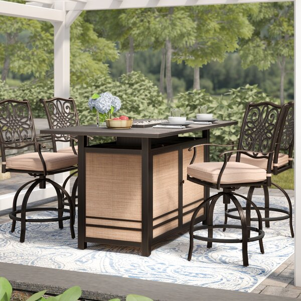 Carleton 5 Piece Bar Height Dining Set by Fleur De Lis Living