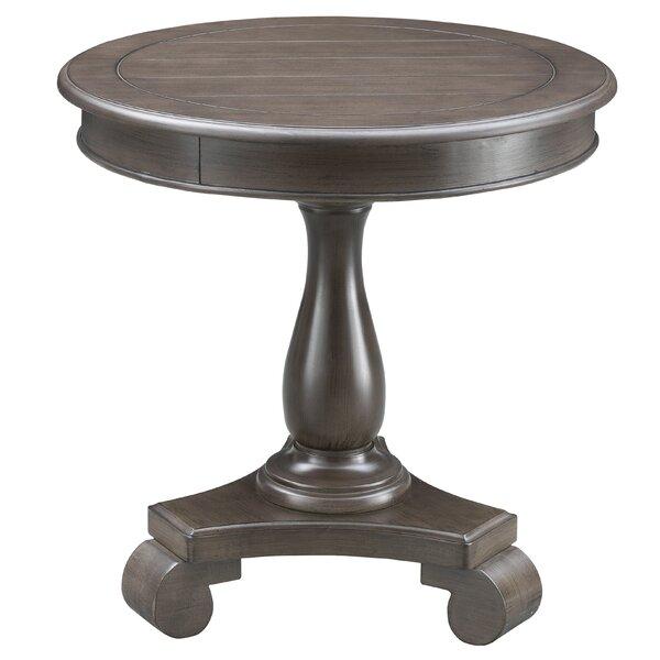 Onondaga Pedestal End Table By One Allium Way