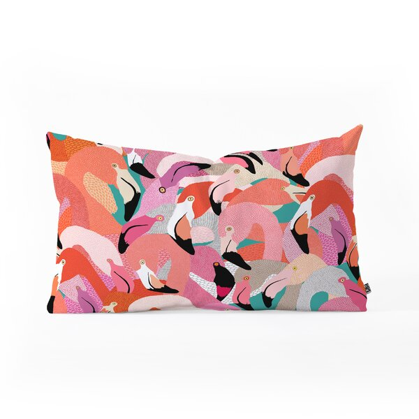 Ruby Door Flamingo Flock Oblong Lumbar Pillow by East Urban Home