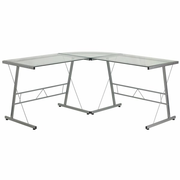 Duong Glass L-Shape Desk