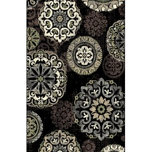 Top Reviews Shaffer Black Area Rug By Red Barrel Studio