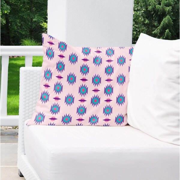 Gianna Cotton Indoor/Outdoor Geometric Euro Pillow