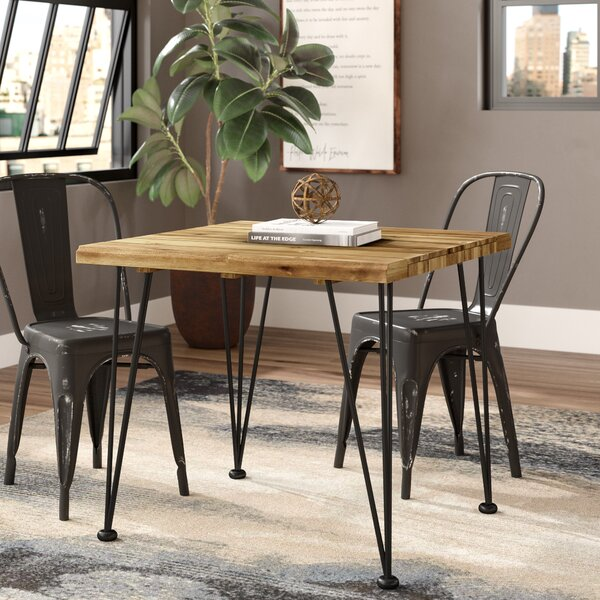 Modern Tindley Indoor Acacia Wood Dining Table By Williston Forge Cheap