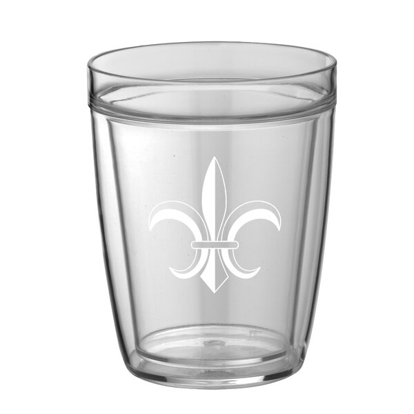 Chumbley Fleur De Lis 14 oz. Plastic Every Day Glass (Set of 4) by Fleur De Lis Living