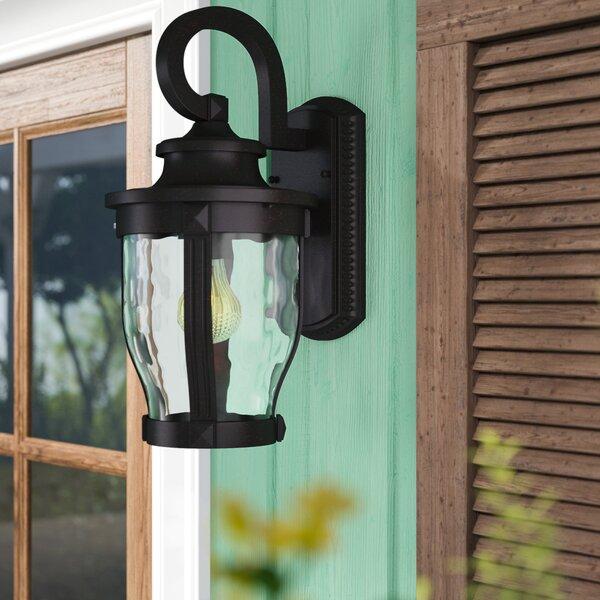 Urbanek 1-Light Glass Shade Outdoor Wall Lantern by Charlton Home