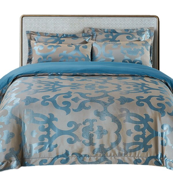Gardner 100% Cotton 6 Piece Reversible Duvet Cover Set