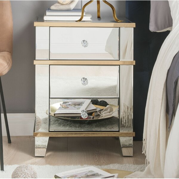 Elmhur 3 Drawer Nightstand by Rosdorf Park