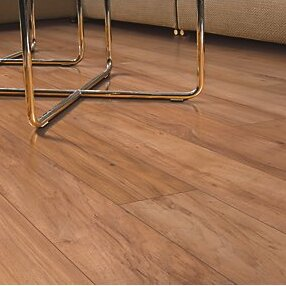 Hanbridge 5.25 x 47.25 x 11.93mm Hickory Laminate Flooring in Brown by Mohawk Flooring
