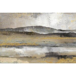 Rolling Hills Painting Print on Wrapped Canvas by East Urban Home