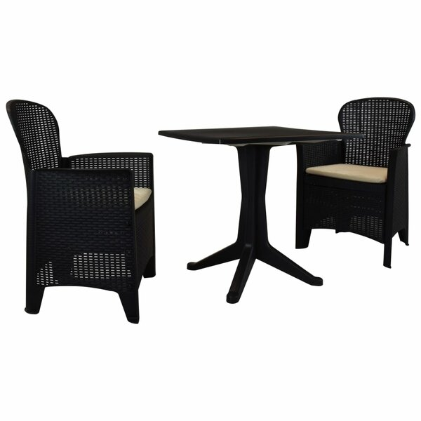Tildon 3 Piece Bistro Set with Cushions by Ebern Designs
