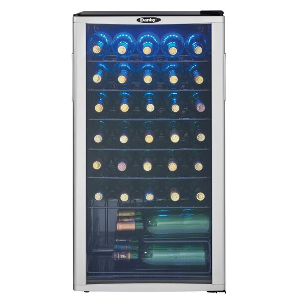 35 Bottle Single Zone Freestanding Wine Cooler by Danby