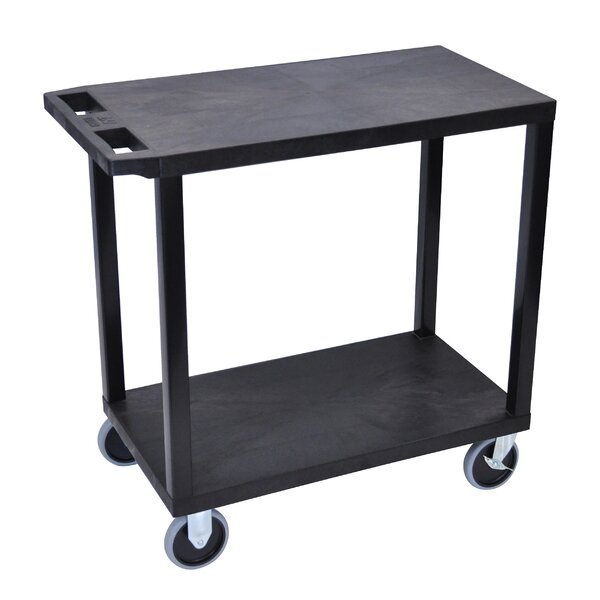 E Series Heavy Duty Utility Cart with 2 Flat Shelv