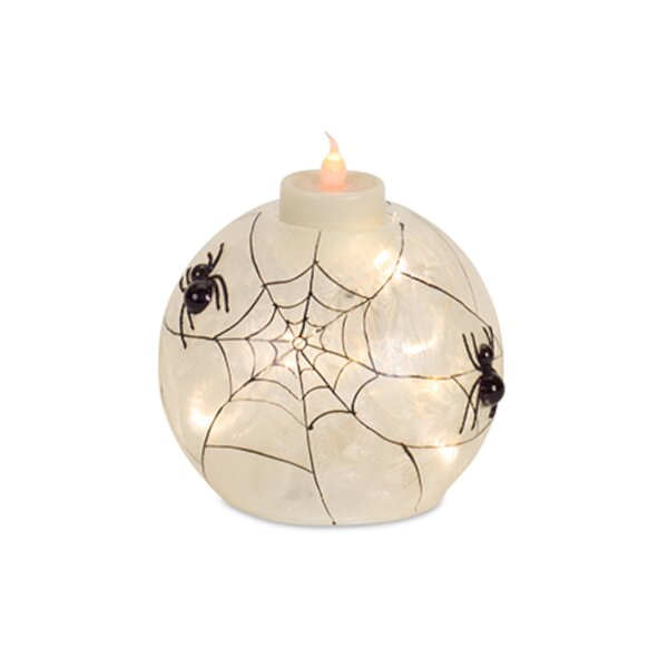 Orb with Spider Lighting Accessory (Set of 4) by The Holiday Aisle