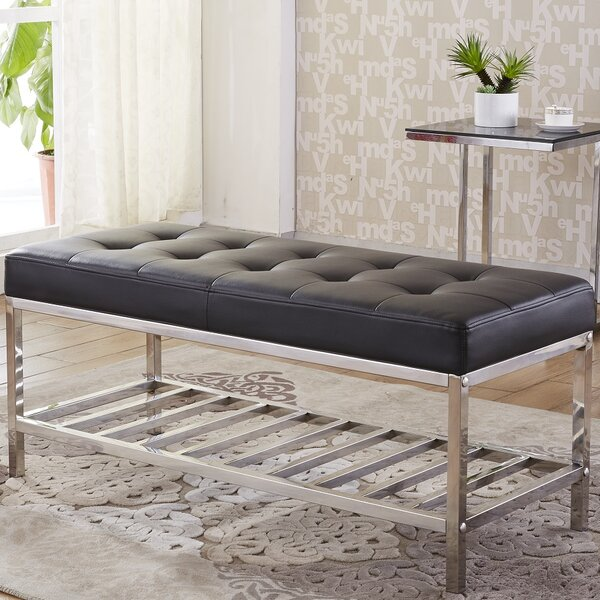 Faux Leather Storage Bench by NOYA USA