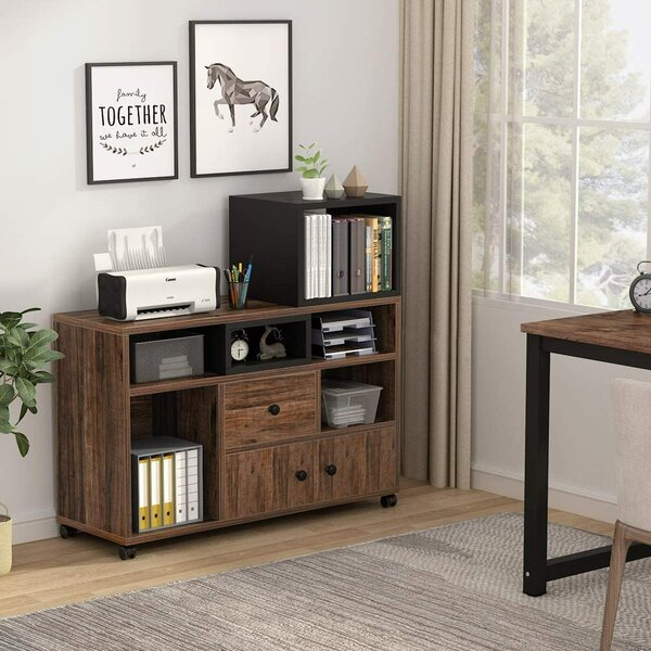 Comstock Mobile Vertical Filing Cabinet