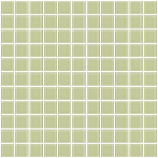 1 x 1 Glass Mosaic Tile in Light Green by Susan Jablon