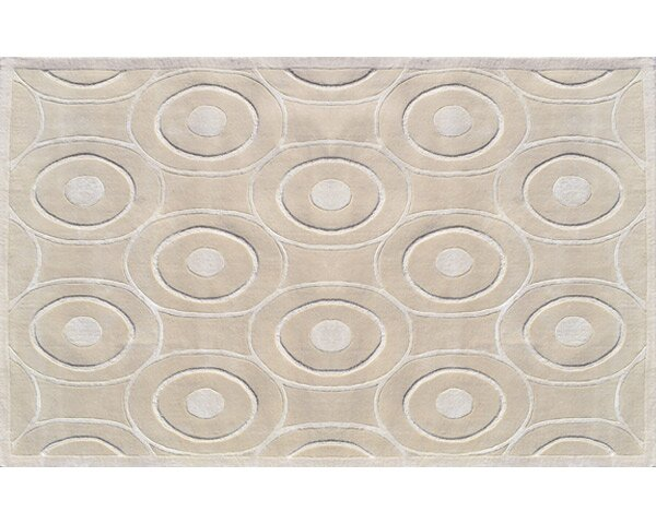Montreal Hand-Tufted Cream Area Rug by Meridian Rugmakers