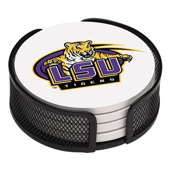 5 Piece Louisiana State University Collegiate Coaster Gift Set by Thirstystone