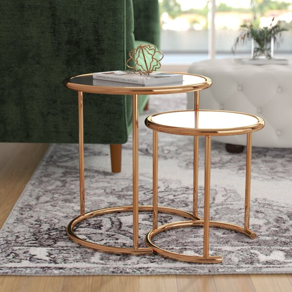 Kalb 2 Piece Nesting Table by Willa Arlo Interiors