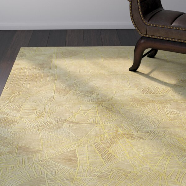 Malila Hand-Tufted Beige Area Rug by World Menagerie
