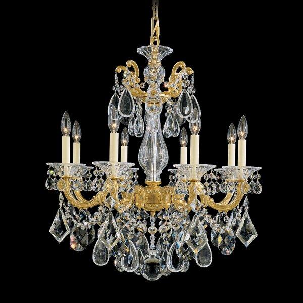 La Scala 8-Light Candle Style Chandelier by Schonbek