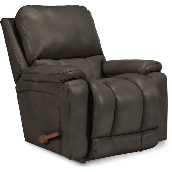 Greyson Leather Manual Rocker Recliner By La-Z-Boy