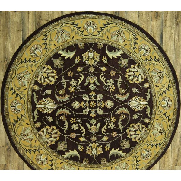 One-of-a-Kind Bovill Agra Oriental Hand-Tufted Wool Brown/Beige Area Rug by Canora Grey