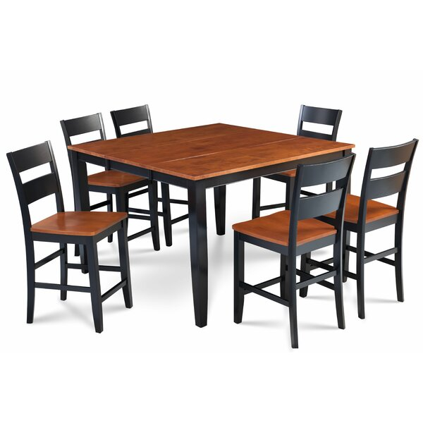 Bennet Solid Wood 7 Piece Counter Height Extendable Dining Set by Alcott Hill